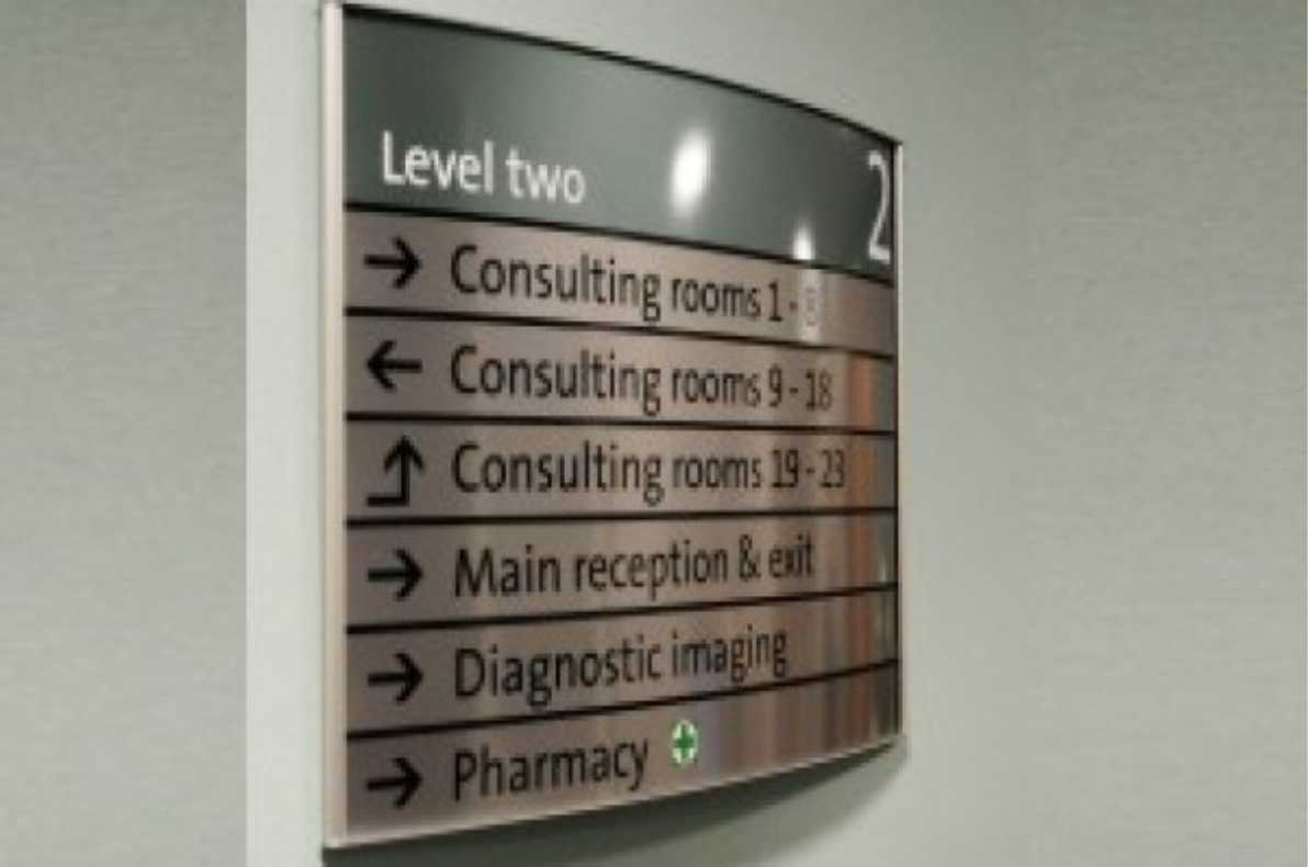 building directory sign for doctor/ hospital