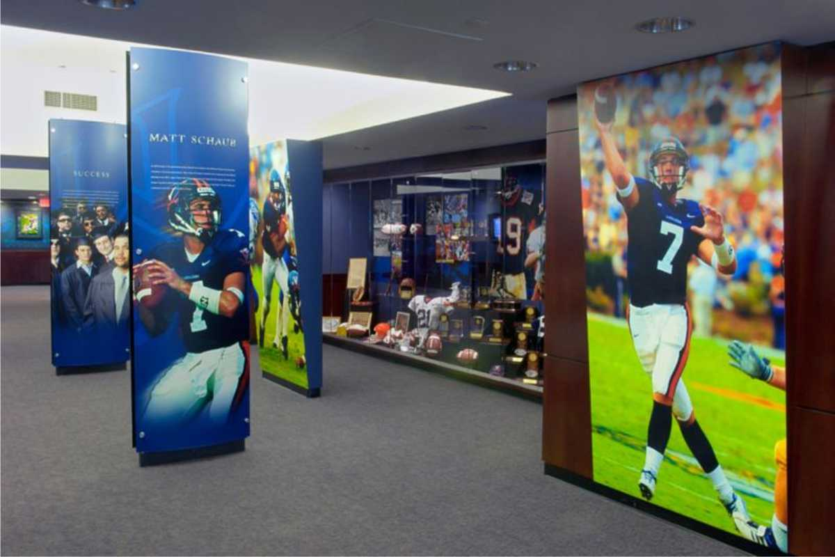 large format digital printing/ wall signs of footbal players