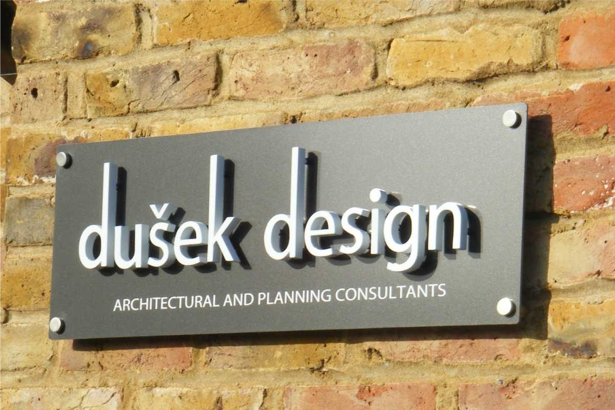 Dimensional Letter signs example for an architect with custom logo/lettering