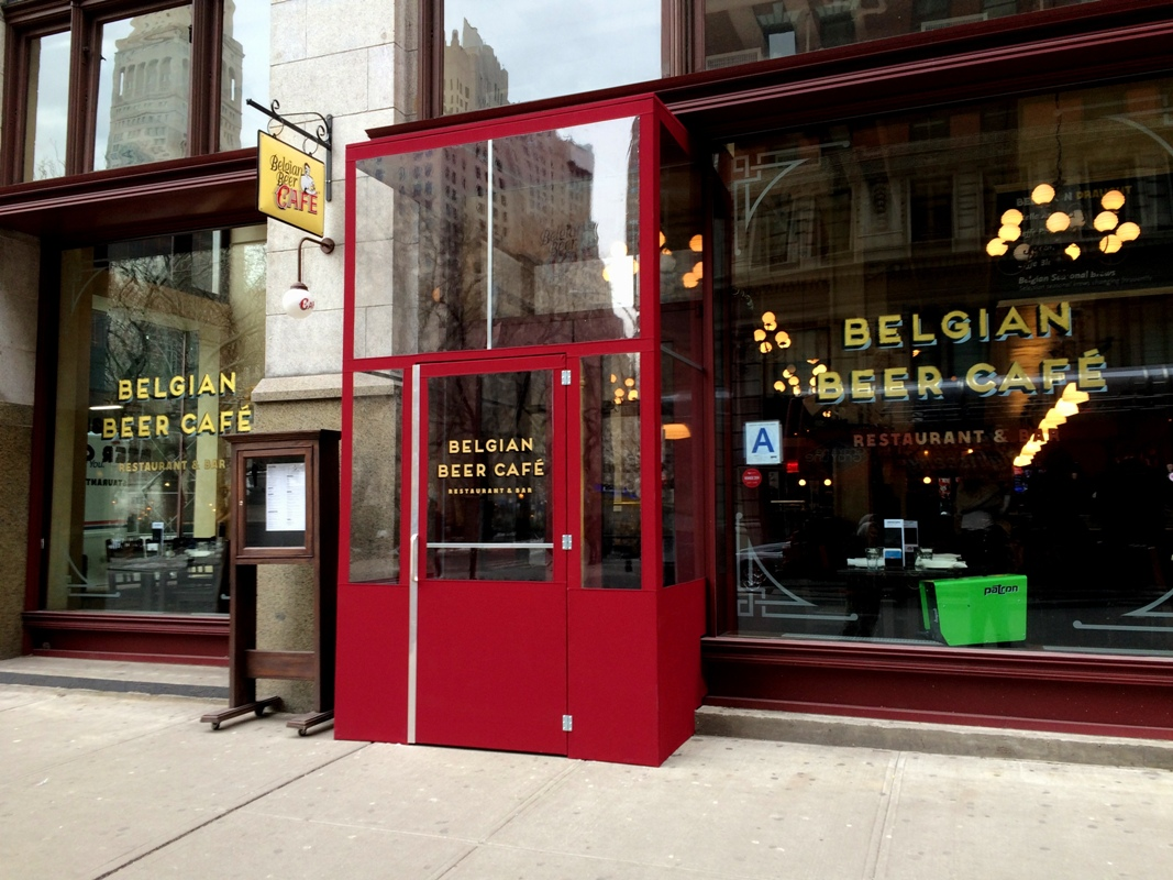 A winter vestibule for the Belgian Beer Cafe