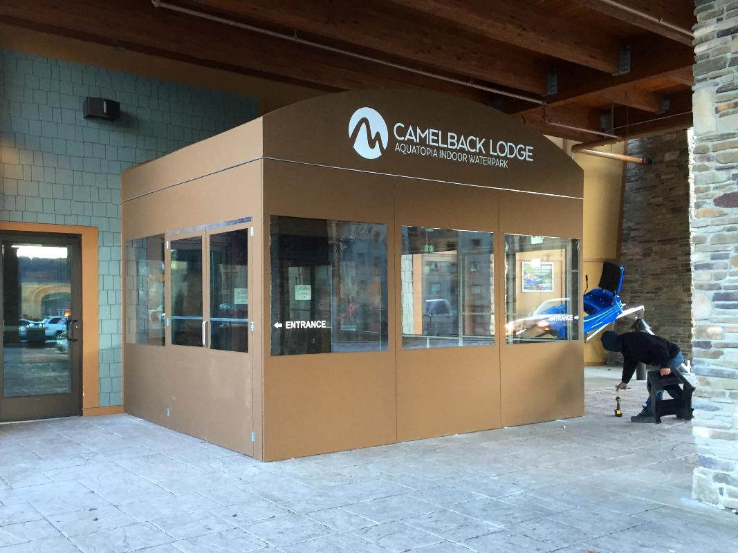 CamelBack Lodge temporary lobby/ vestibule