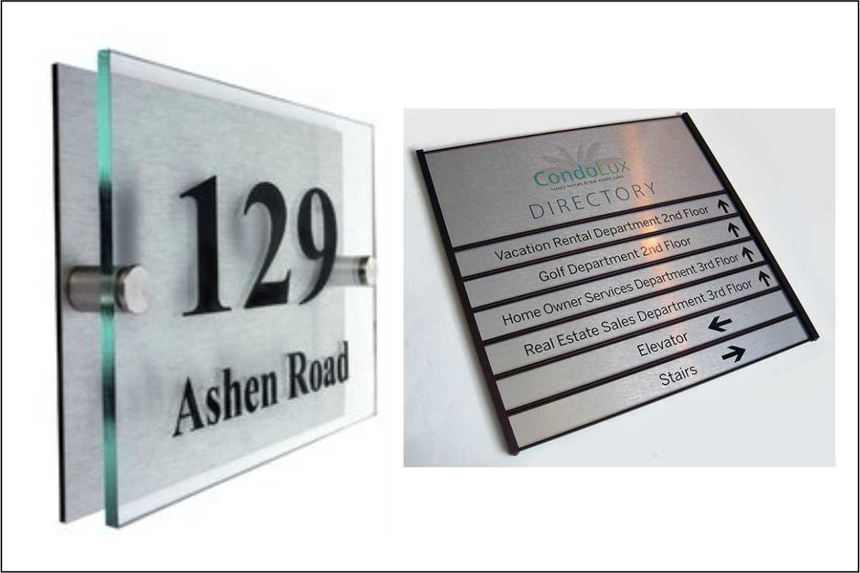 Directory sign and office plaque